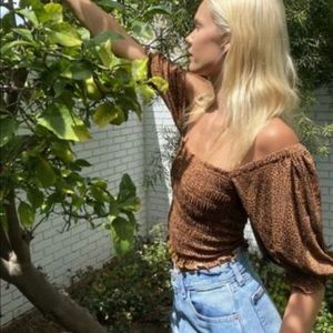 NWT urban outfitters Giselle smocked top